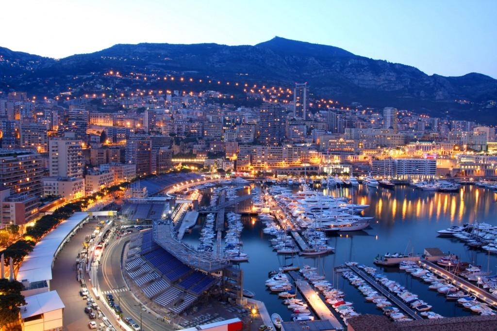 Monaco at dusk.