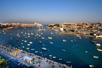 Harbour view from Gzira front, Malta.