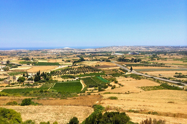 View from Mdina bastions.