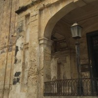 Detail of the facade of Villa Guardamangia today.