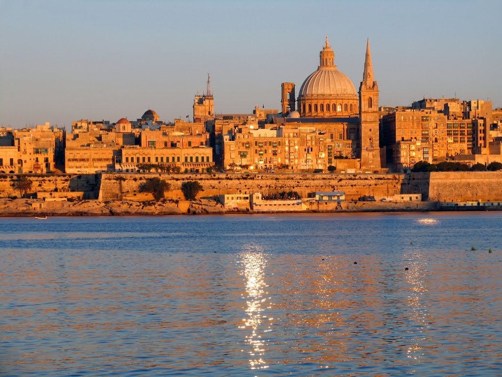 Heart-melting sunset over Valletta