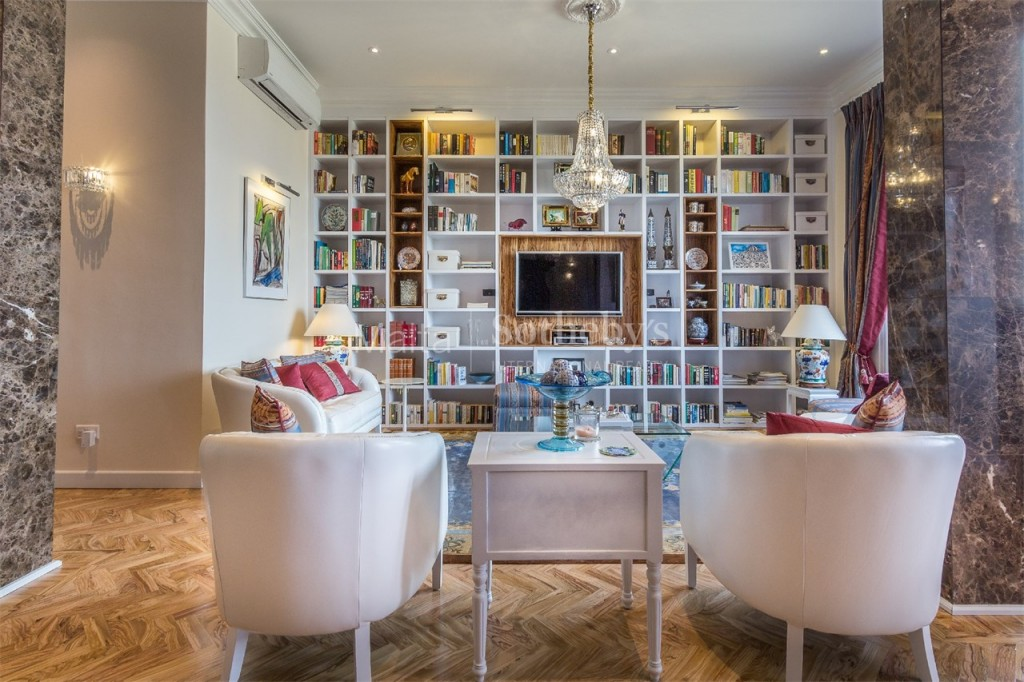 Colourful living area of Valletta luxury apartment