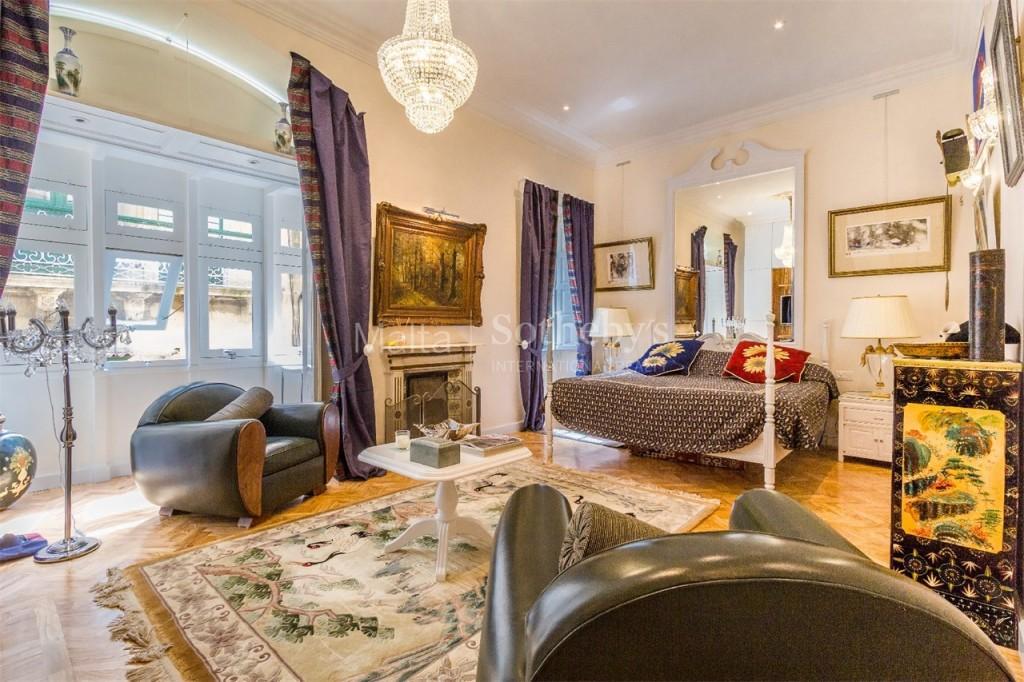 Valletta city apartment lavish master bedroom