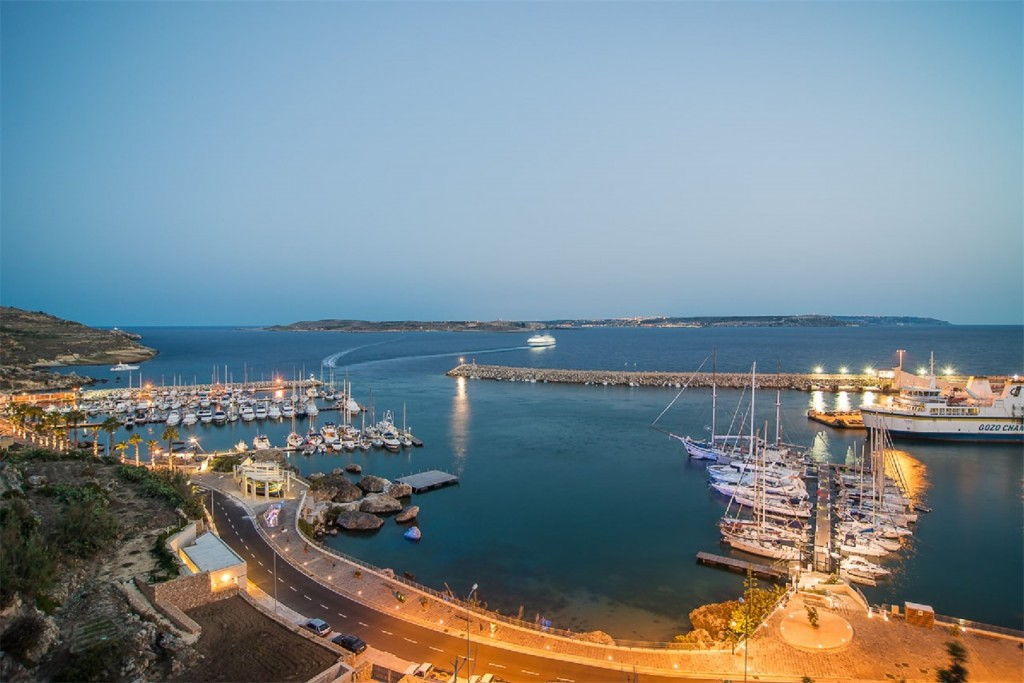 Mgarr harbour at night, Gozo