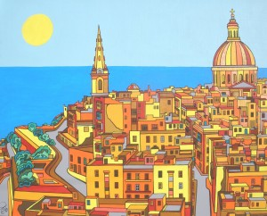 Valletta colourful artwork by Evilpainter