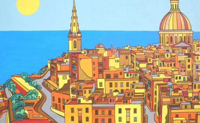 Valletta colourful artwork by Evilpainter