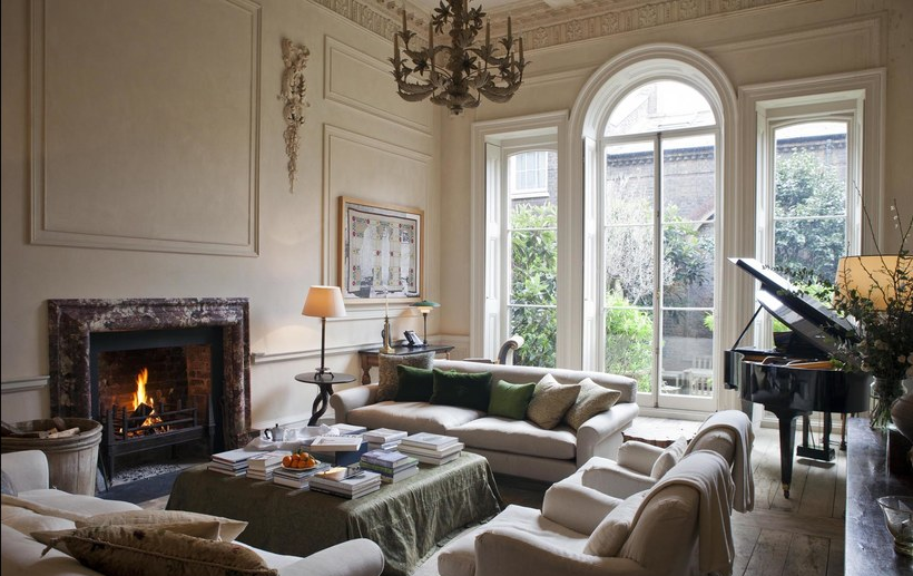 Sitting room designed by Rose Uniacke