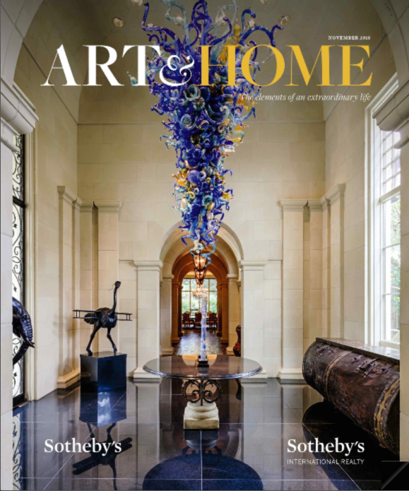 Art & Home luxury lifestlye magazine by Sotheby's
