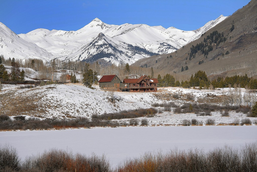 1482 Peanut Lake Road, Crested Butte overlooks Peanut Lake and has stunning views of Paradise Divide.