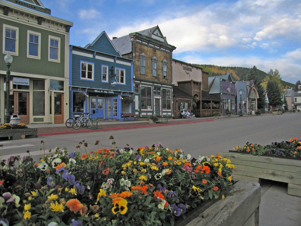 The flowers abound on Elk Avenue, Crested Butte in the summer time.