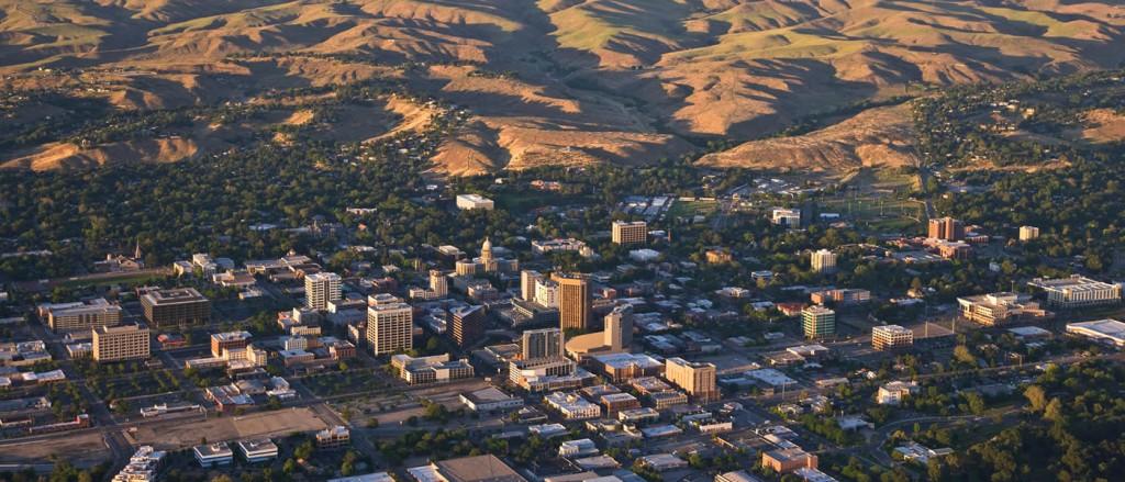Aerial view of Boise, Idaho
