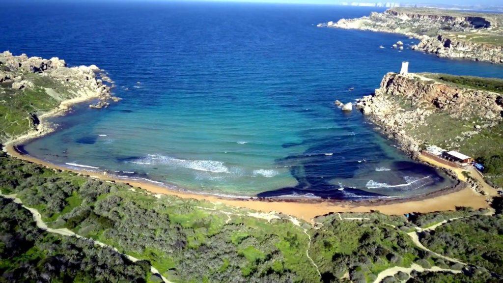 Golden Bay in Malta